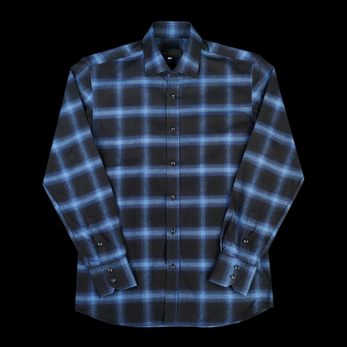 96654 SA 프리미엄 플란넬 체크 셔츠 (Blue)