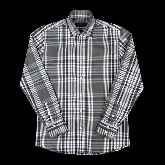 96658 프리미엄 체크 셔츠 (Khaki)