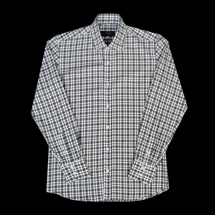 96659 프리미엄 체크 셔츠 (Beige)