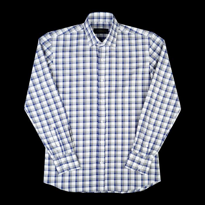 96661 프리미엄 체크 셔츠 (Blue)