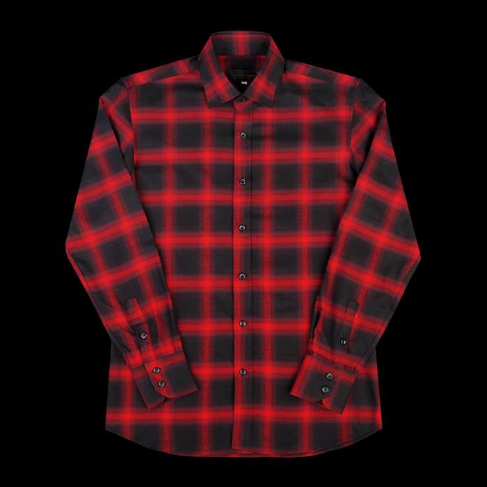 96665 SA 프리미엄 플란넬 체크 셔츠 (Red)