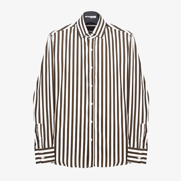 97696 프리미엄 스트라이프 셔츠 (Brown)