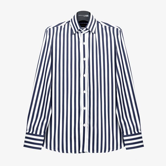 97698 프리미엄 스트라이프 셔츠 (Navy)