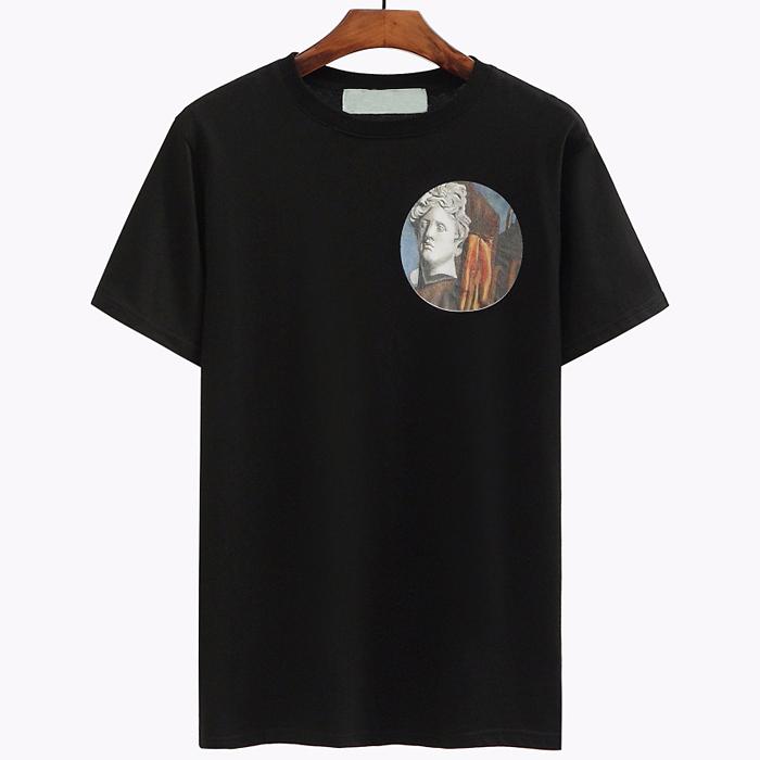 98834 라운드 석고상 하프 티셔츠 (2Color)