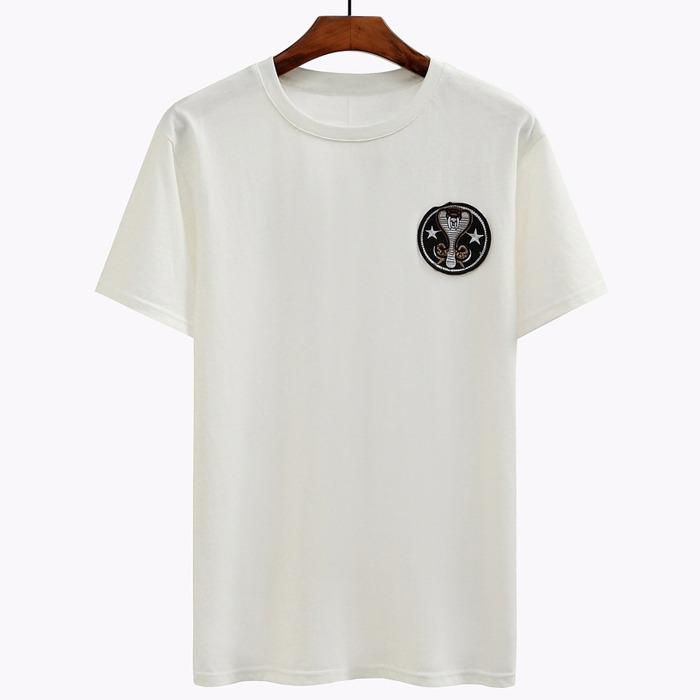 98838 코브라 라운드 패치 하프 티셔츠 (2Color)
