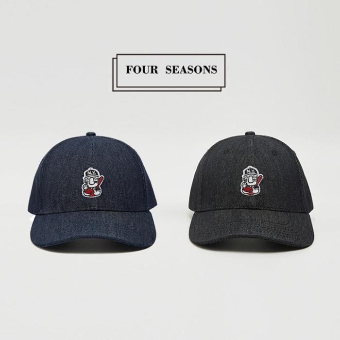 99359 뉴욕베이스볼 패치 데님 볼 캡 (2Color)