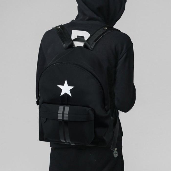 99735 GI 시그니처 스타 더블라인 백팩 (Black)