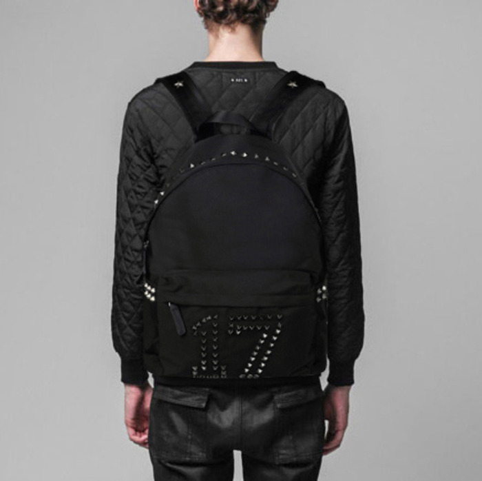 99752 GI 시그니처 넘버링 스터드 백팩 (Black)