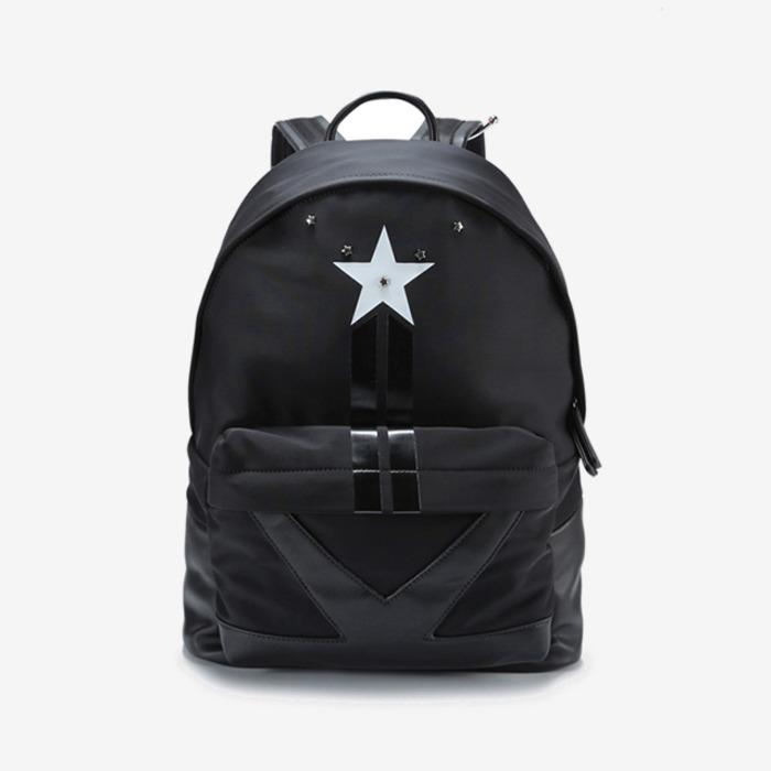 99925 GI 스타 스터드 레더블렌드 백팩 (Black)