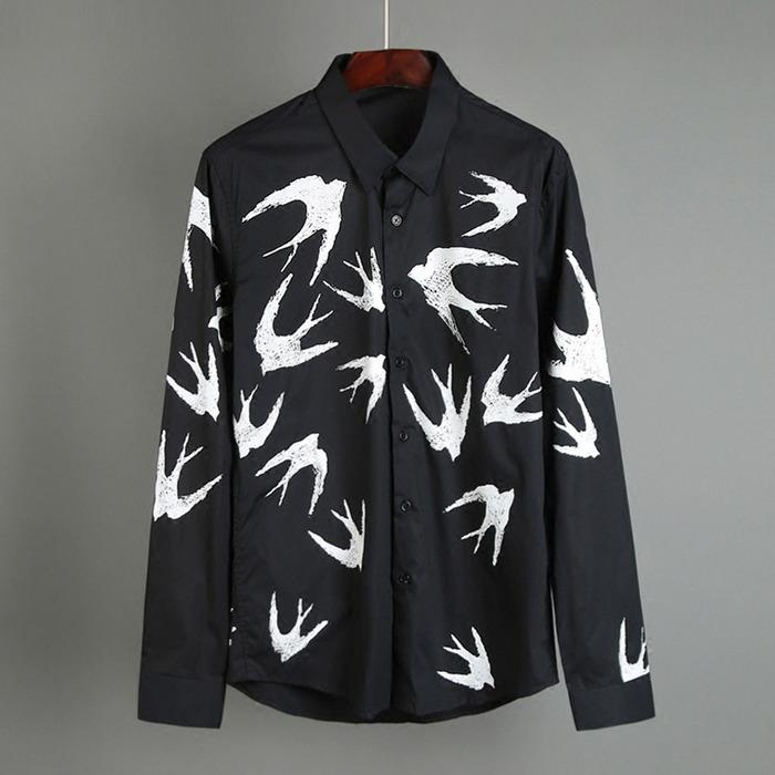 100400 미니멀 제비 스케치 셔츠 (2Color)