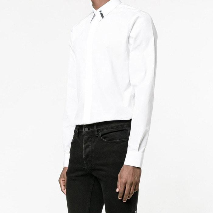 100981 GI 타이니 별자수 히든버튼 셔츠 (2Color)