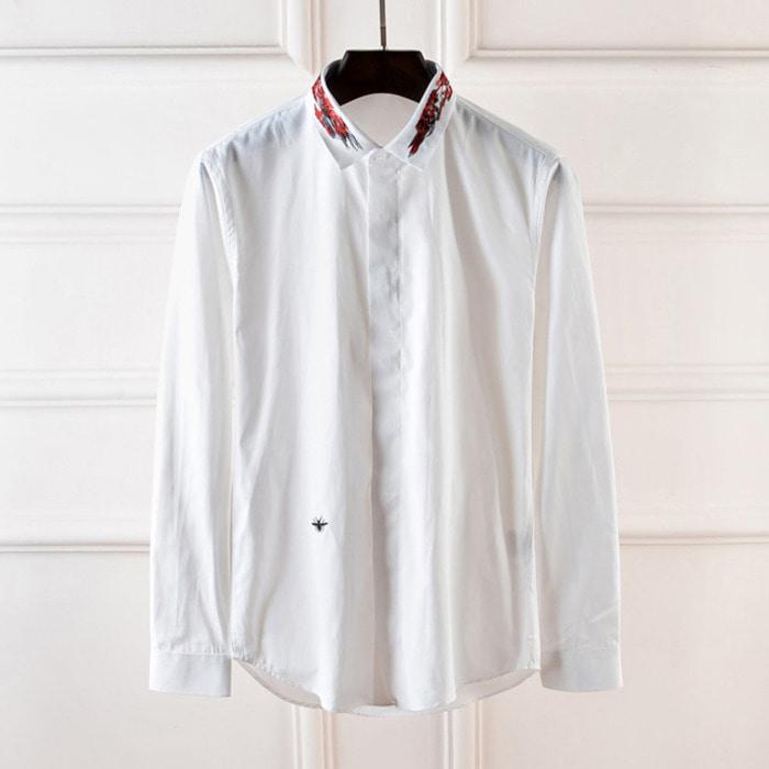 101005 DI 유니크 스티치 라인 히든버튼 셔츠 (2Color)