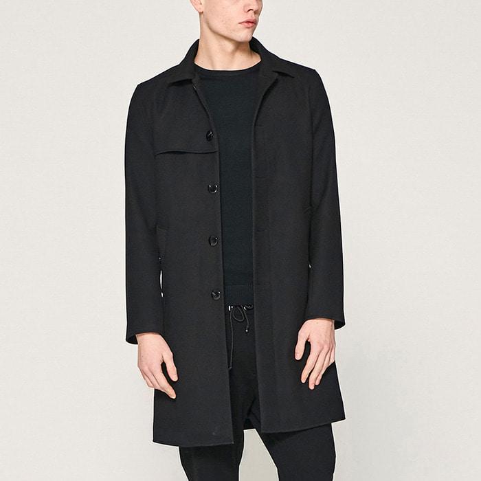 101209 데일리 미니멀라인 싱글 코트 (Black)