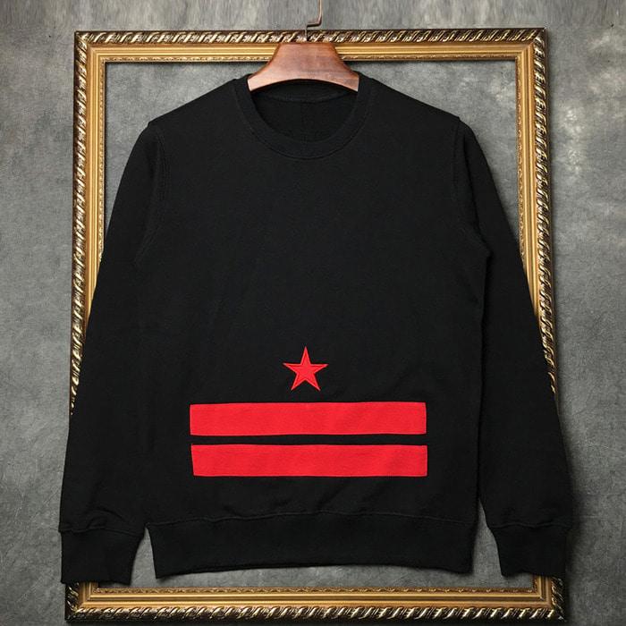 101231 GI 시그니처 더블라인 맨투맨 티셔츠 (Black)