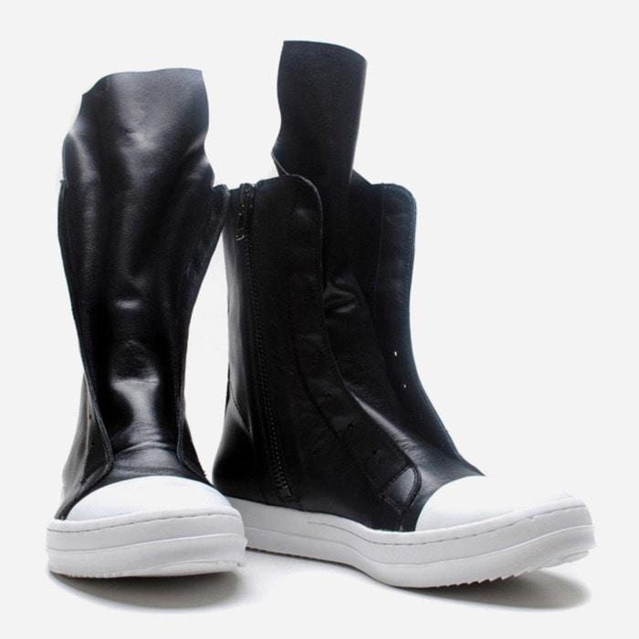 102552 RI 사이드 지퍼 하이탑 스니커즈 (Black+White)