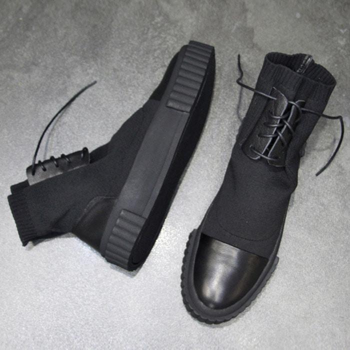 102568 유니크 컴포터블 삭스 스니커즈 (Black)