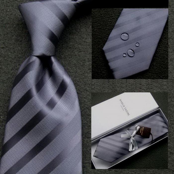 103035 마르코 볼드 스트라이프 넥타이 (Gray)