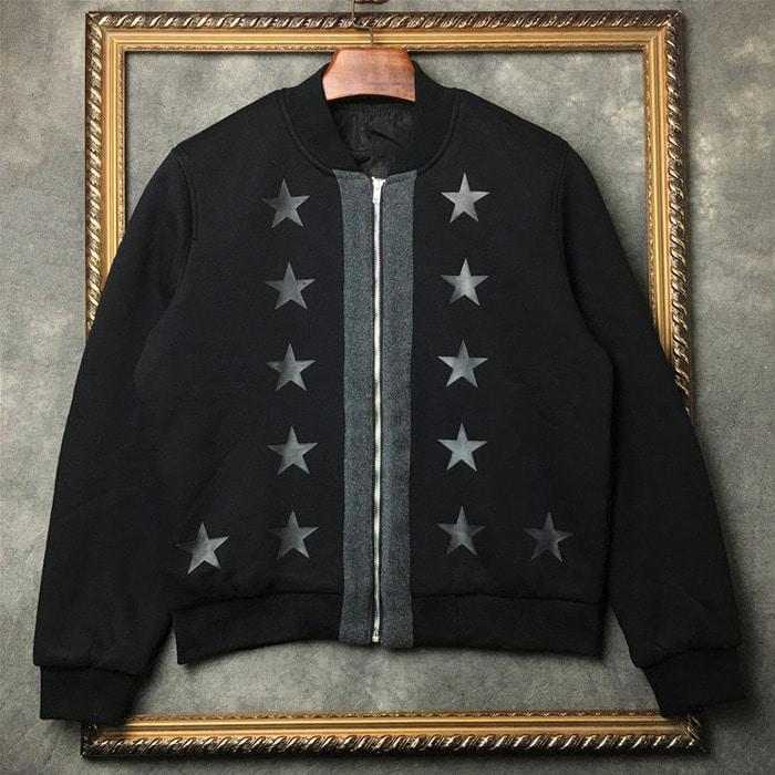 103717  스플렌더 스타 라인 블루종 점퍼 (Black)