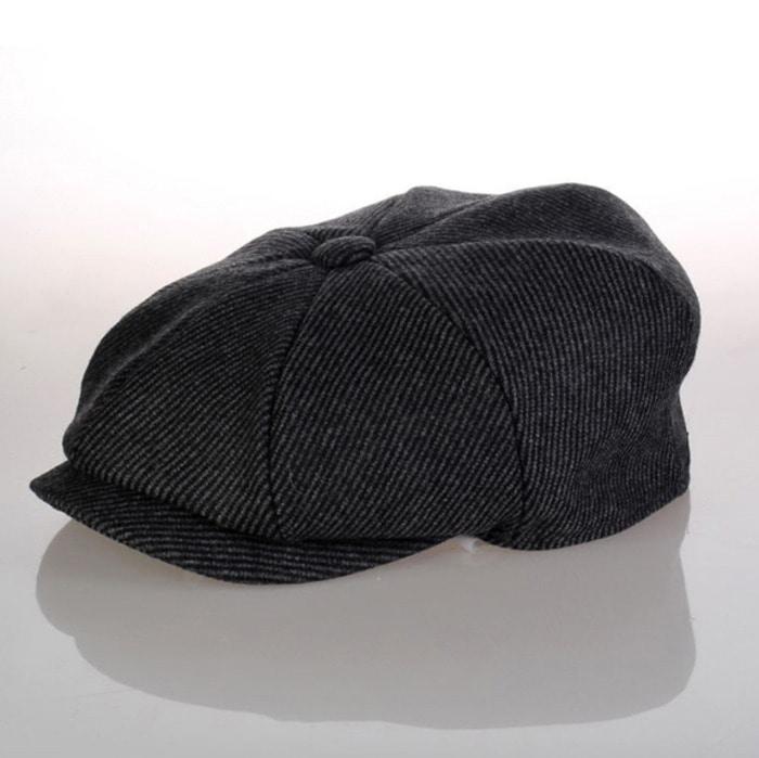 103894 로날도 레트로 라인 뉴스보이 헌팅캡 (Black)