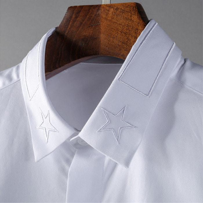 104326 GI 시그니처 카라 히든버튼 셔츠 (White)
