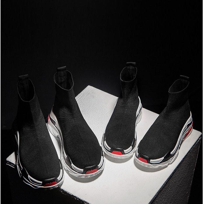 104383 히든버드 삭스 스니커즈 (Black)