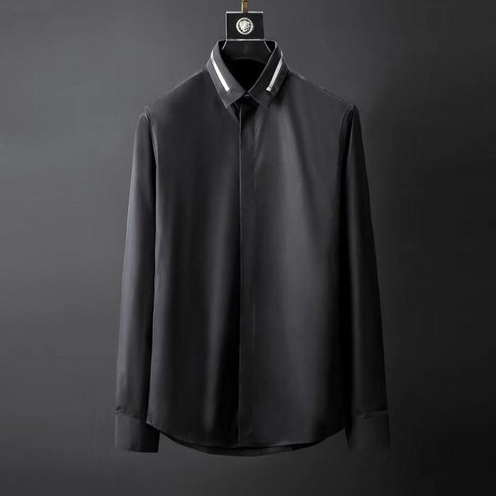 105091 카라 지퍼 포인트 셔츠 (2Color)