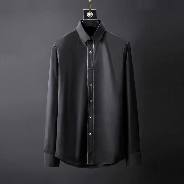 105092 지퍼 라인 솔리드 셔츠 (2Color)