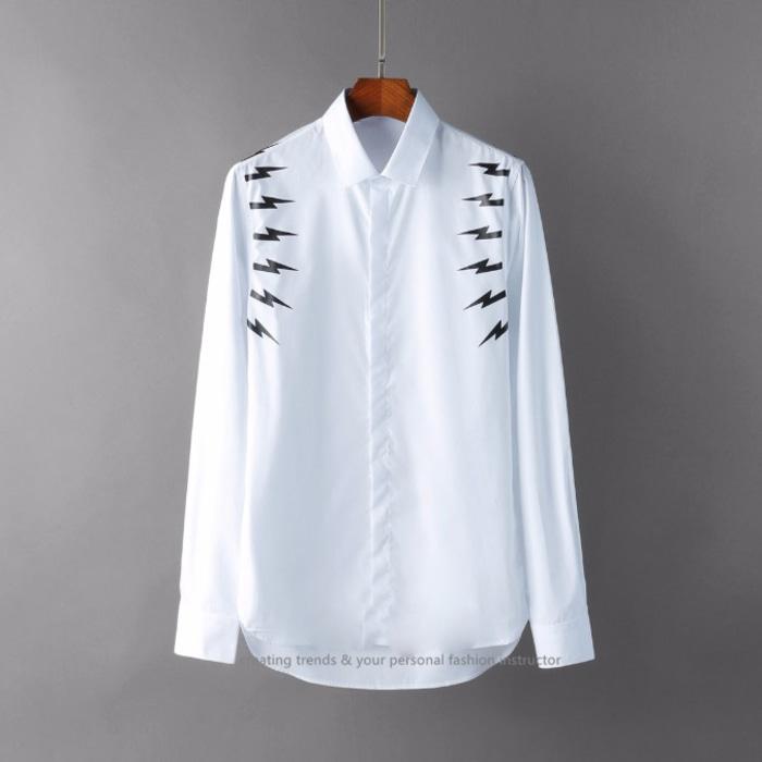 105120 NE 암홀라인 썬더 프린팅 셔츠 (2Color)