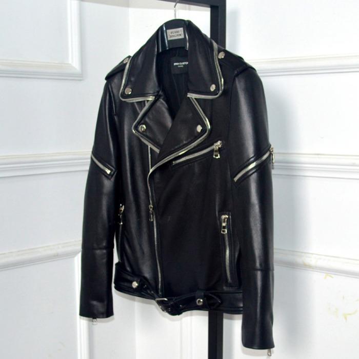 106497 유니크틱 에드워드 지퍼라인 라이더 점퍼 (Black)