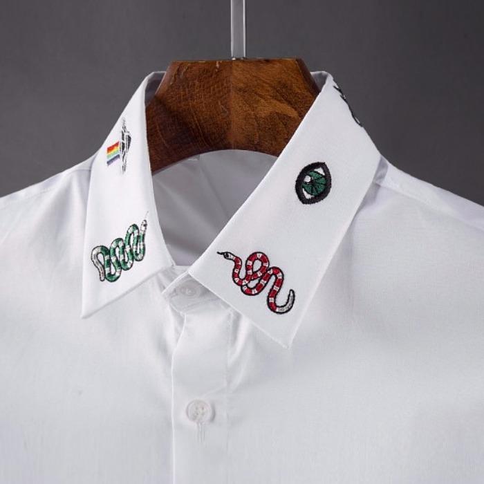 107101 GU 시그니처 베리어스 엠브로이드 셔츠 (2Color)