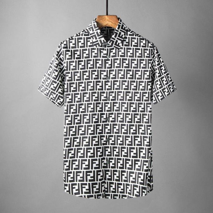 106852 FE 시그니처 로고패턴 포인트 하프 셔츠 (2Color)