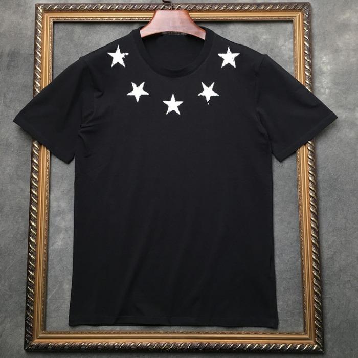 106959 GI 스크래치 스타 네크라인 하프 티셔츠 (2Color/2Type)