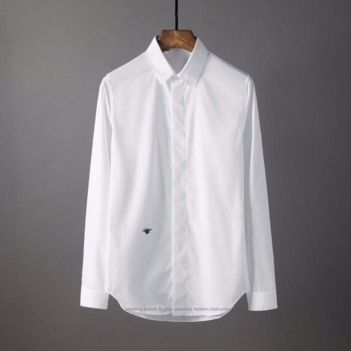 106864 GU 고저스라인 벌꿀자수 히든버튼 셔츠 (2Color/2Type)