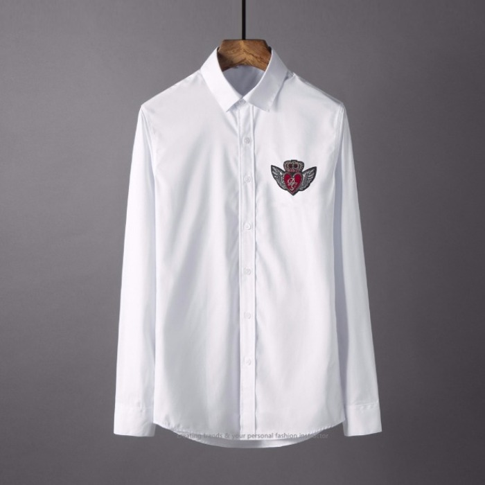 106857 DO 크라운윙 로고포인트 엠브로이드 셔츠 (2Color)