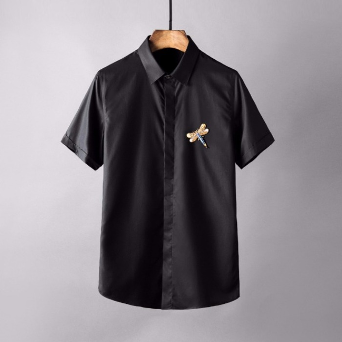 106862 VA 실키라인 드래곤플라이 엠브로이드 하프 셔츠 (4Color)