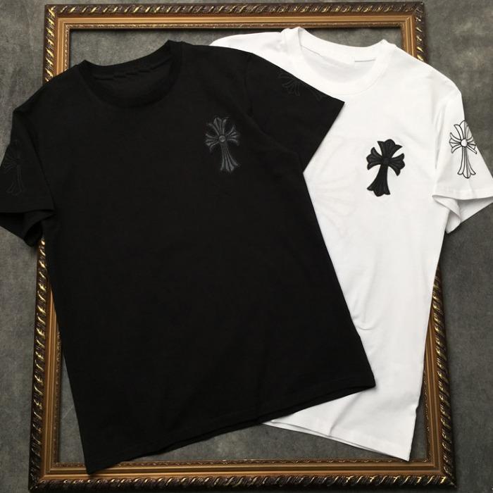 106947 헤비크로스 엠브로이드 하프 티셔츠 (2Color)
