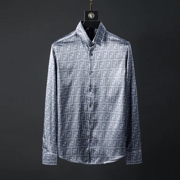 107090 FE 시그니처 로고패턴 샤이닝 셔츠 (Navy)