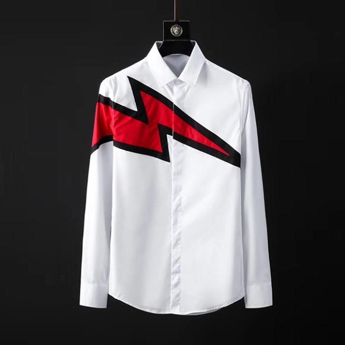 107095 NE 시그니처 헤비프린팅 히든버튼 셔츠 (2Color)