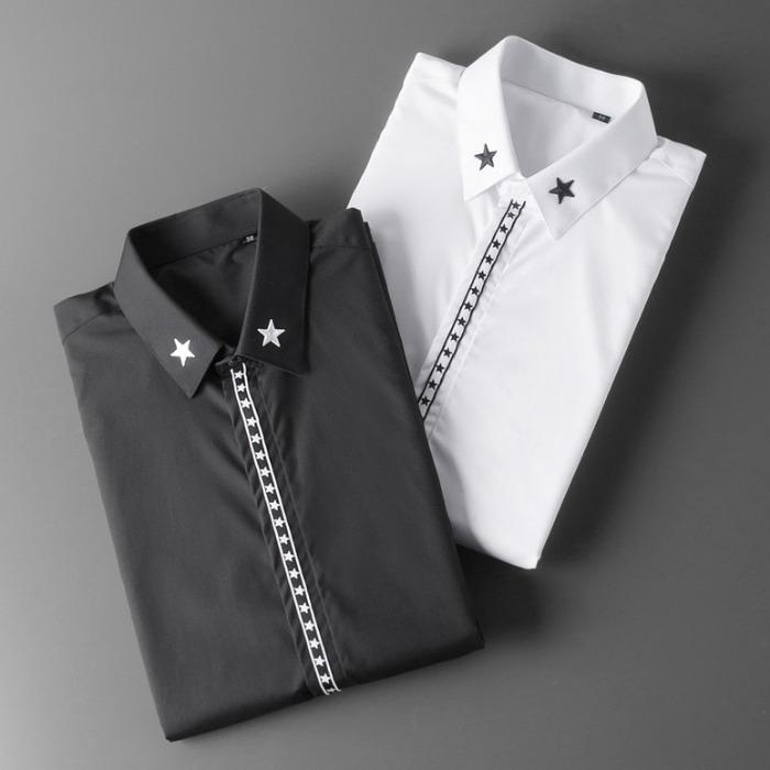107104 GI 시그니처 스타레인 히든버튼 셔츠 (2Color)