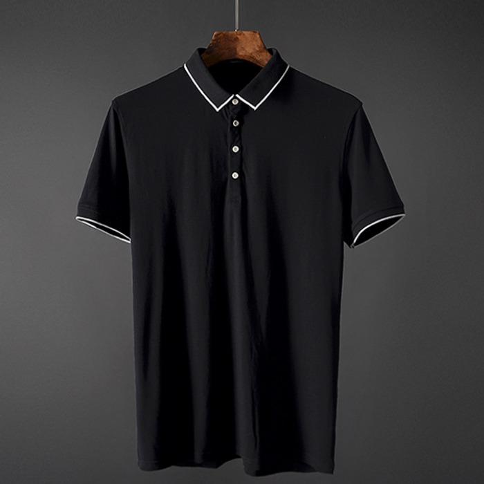 107394 베이직 미니멀리즘 카라 하프 티셔츠 (3Color)