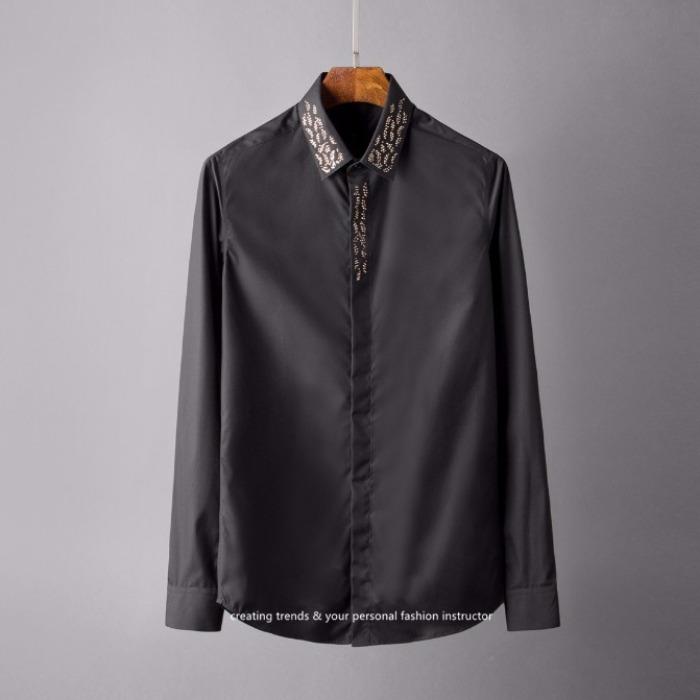 107123 스플렌디드 비조라인 레인포인트 히든버튼 셔츠 (2Color)