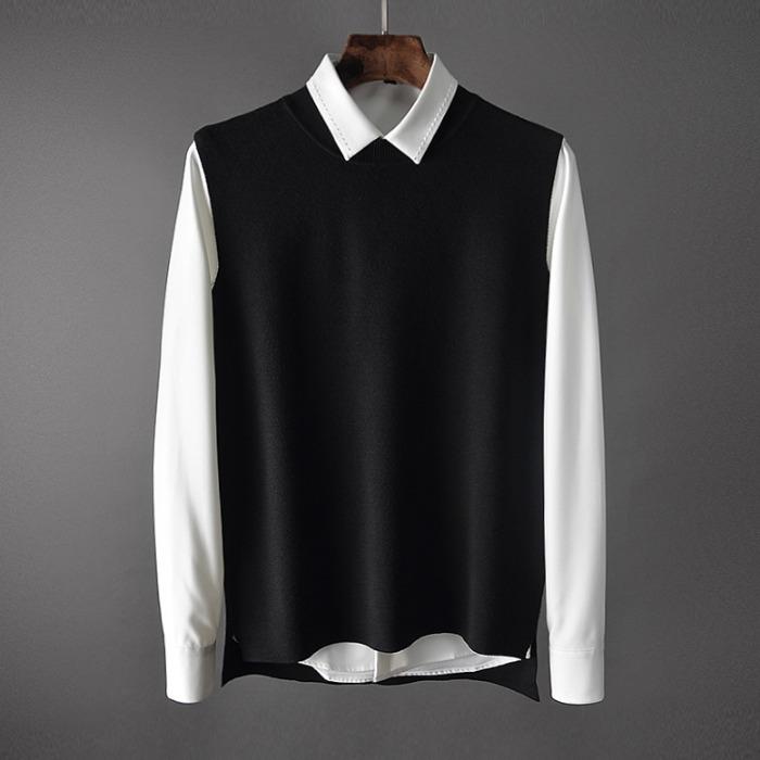 107433 고저스라인 플러스 베스트 포인트 셔츠 (3Color)