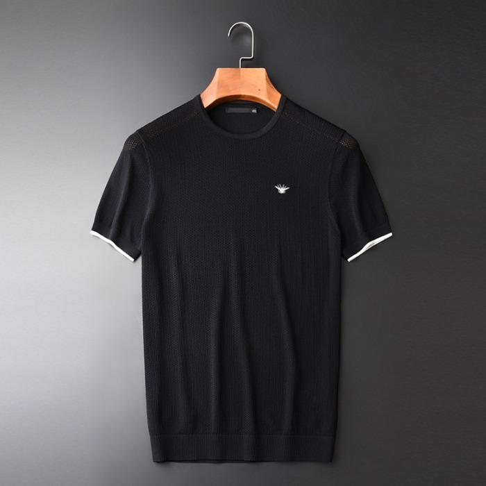 107770 GU 시그니처 꿀벌포인트 메쉬 하프 티셔츠 (Black)