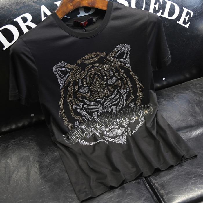 107603 스플렌디드 비조라인 타이거 포인트 하프 티셔츠 (Black)