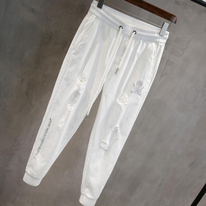 107622 비조스컬라인 디스트로이드 트레이닝 팬츠 (White)