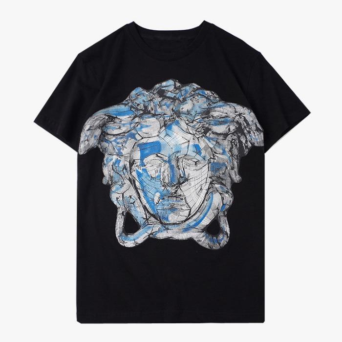 107685 시그니처 지오메트릭 프린팅 하프 티셔츠 (2Color)