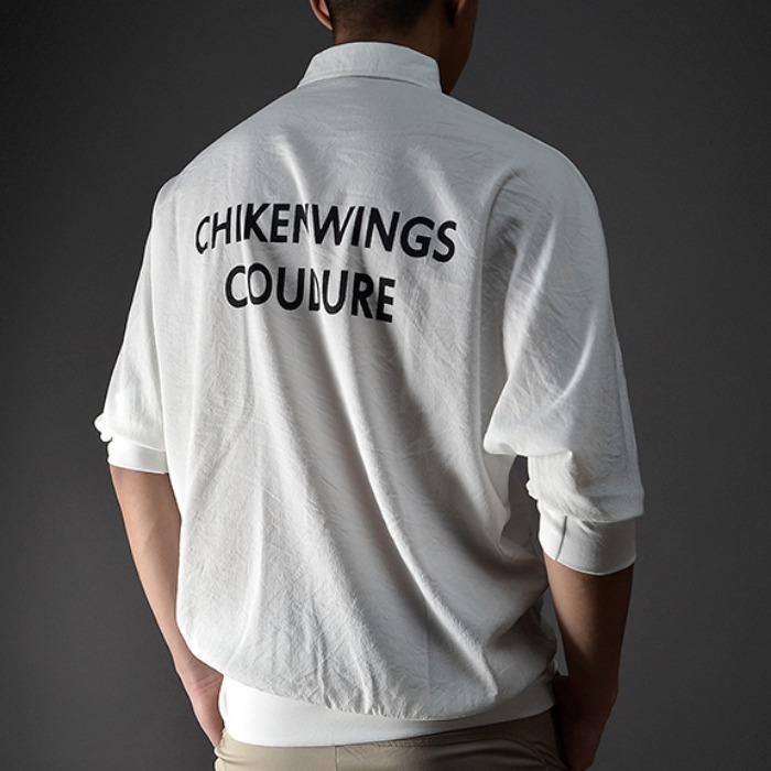 107546 펠릭스라인 레터링 포인트 오버핏 하프 셔츠 (2Color)
