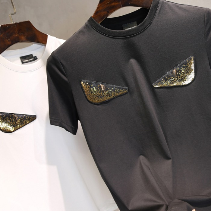 107602 FE 시그니처 골든아이 하프 티셔츠 (2Color)