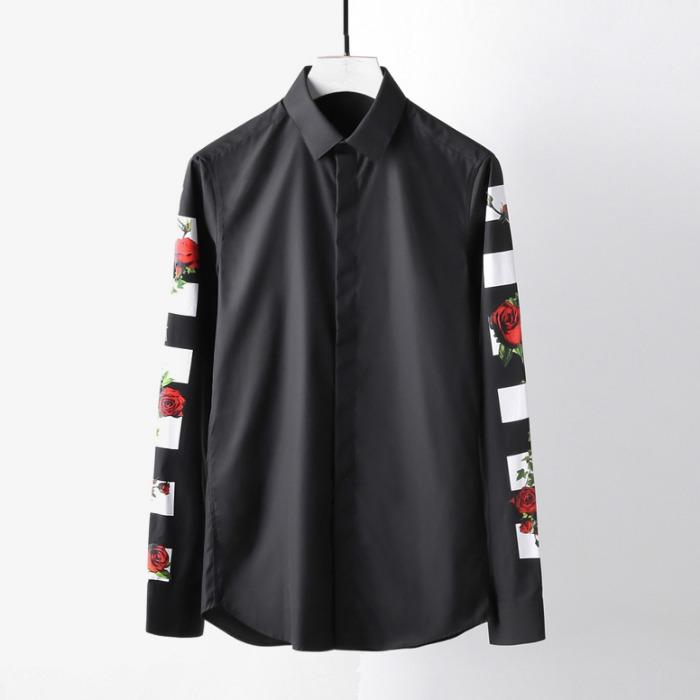 107777 시그니처 트랙로즈 포인트 히든버튼 셔츠 (2Color)