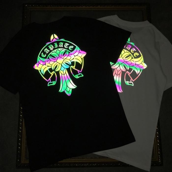 107877 크로스라인 스티치 포인트 하프 티셔츠 (2Color)
